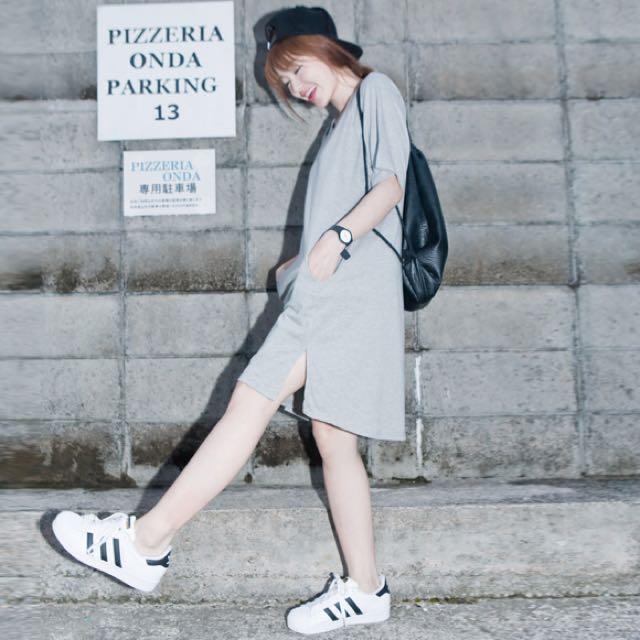 Lulus 圓弧口袋素面洋裝🔥降🔥