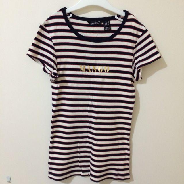 MANGO 合身條紋T恤