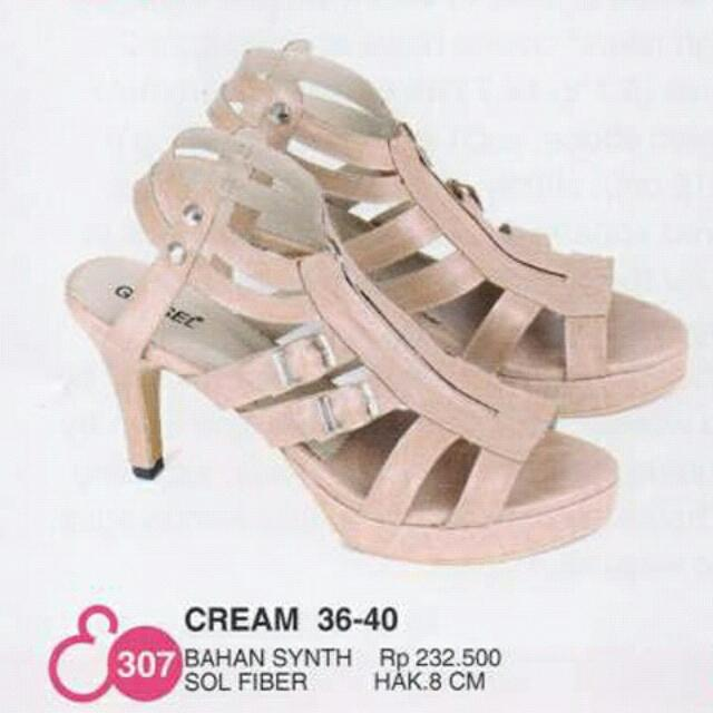 Synth Cream High Heels