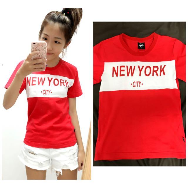 Target 紅色短T New York