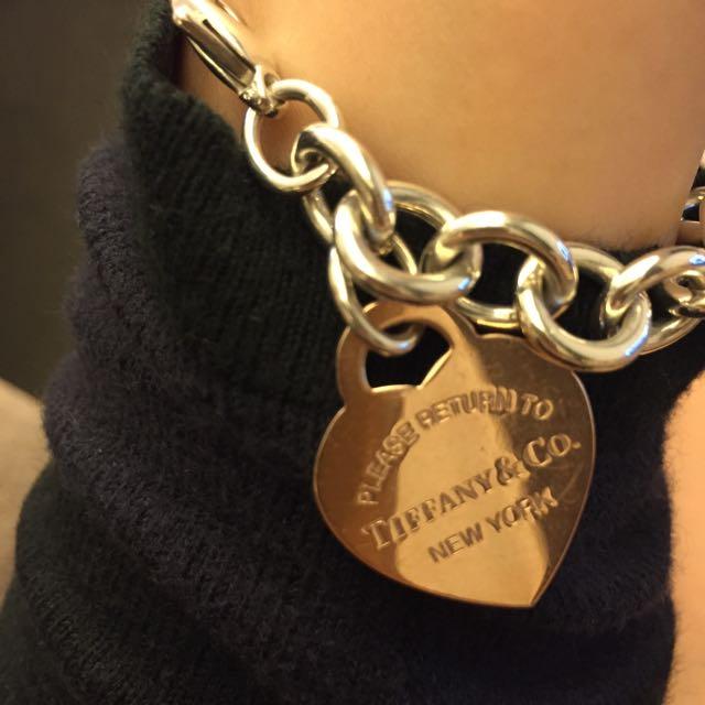 2⃣️手 TIFFANY&Co. 玫瑰金限量款 心形吊飾手鍊