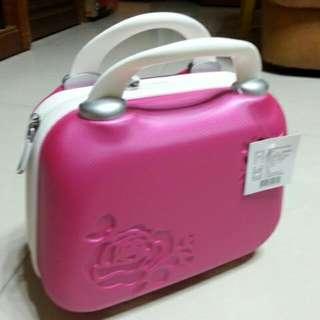 Abs 玫瑰手提化妝箱
