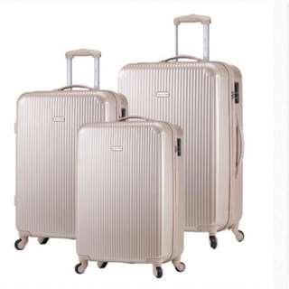 America Tiger 行李箱2件組 香檳金/深藍
