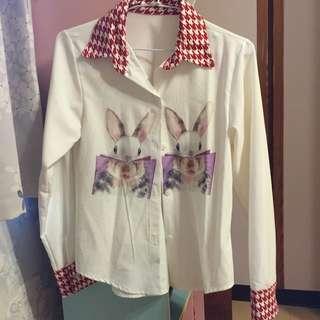 優雅兔子襯衫