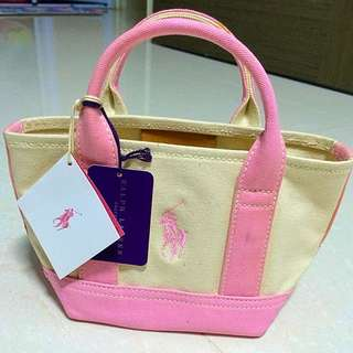 6a693bd664 BNWT Ralph Lauren Mini Pink Pony Tote