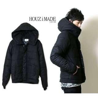 【HOUZi限定款】韓國帽超挺 舖棉毛尼外套 保暖度極佳【X0019】