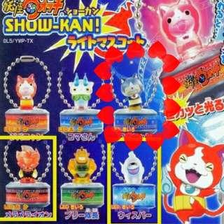 售/換扭蛋 妖怪手錶發光吊飾-機器貓
