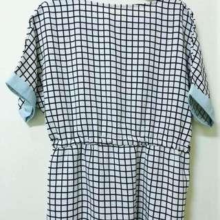韓風氣質格子裙