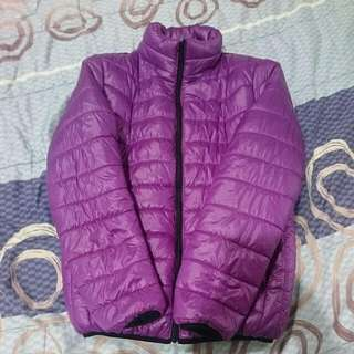 (超輕)紫色羽絨外套. M