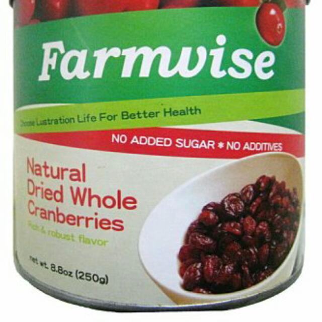 清淨生活-農場智慧天然蔓越莓乾(整顆)250g/罐