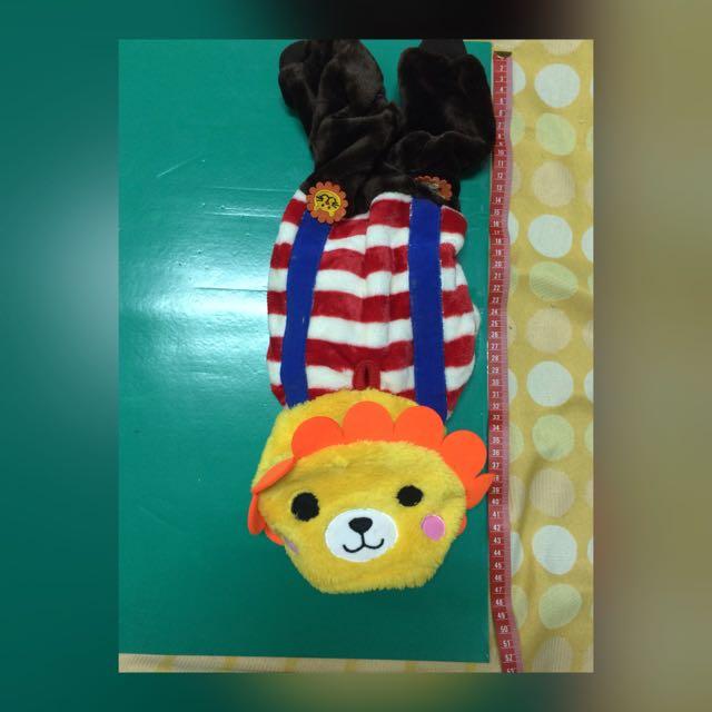 可愛獅子吊帶褲(全新)