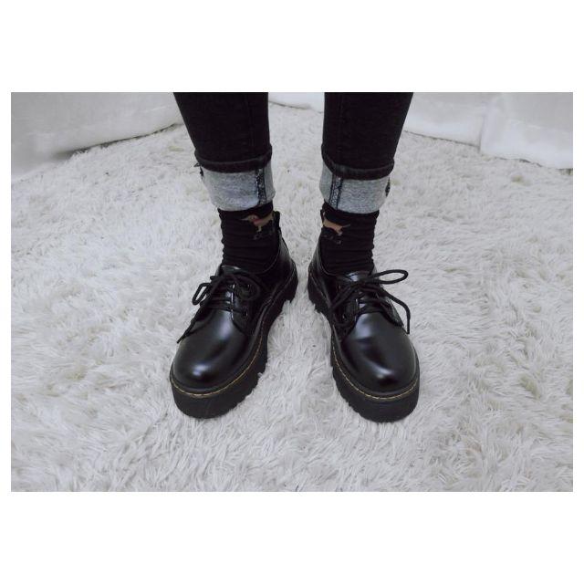 復古英倫學院風牛津厚底鞋
