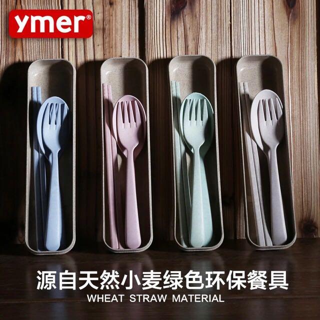 韓國小麥-天然餐具組