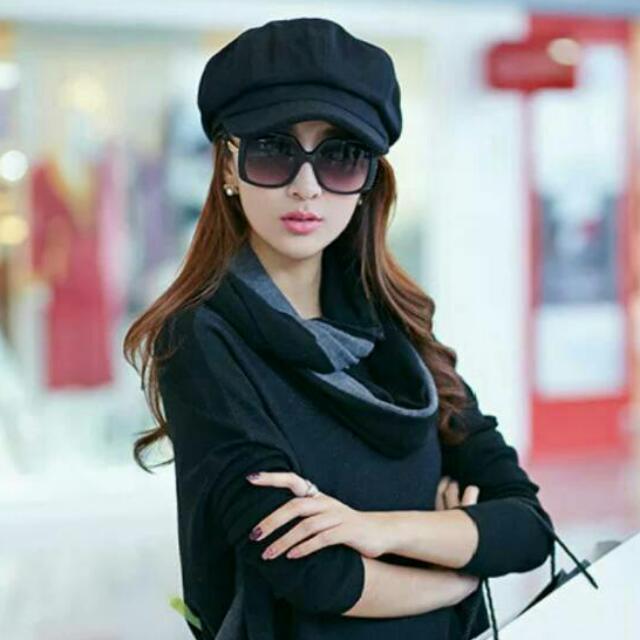 @愛買寶-韓國時尚風 復古直條紋鴨舌帽 八角帽 英倫風貝雷帽 報童帽 畫家帽