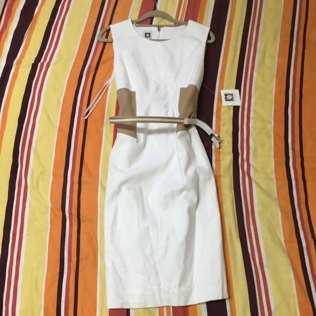 美國帶回 Anna Klein 氣質及膝洋裝 (US6號)