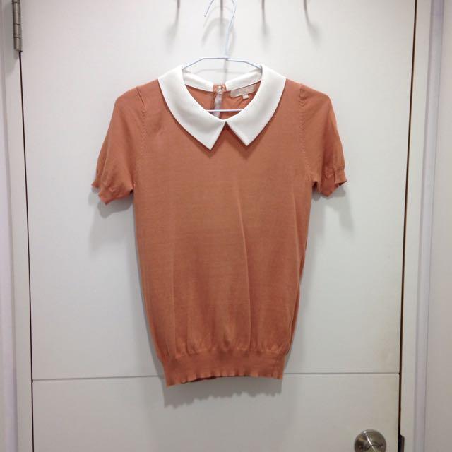 👗♻️ 粉橘色針織衣 [CHICA]