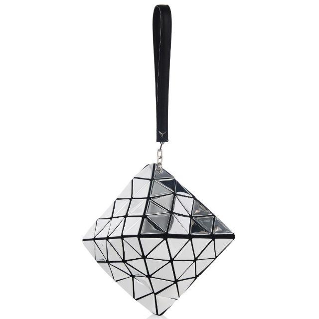 三宅一生BAOBAO鏡面菱型幾何方格手拿包