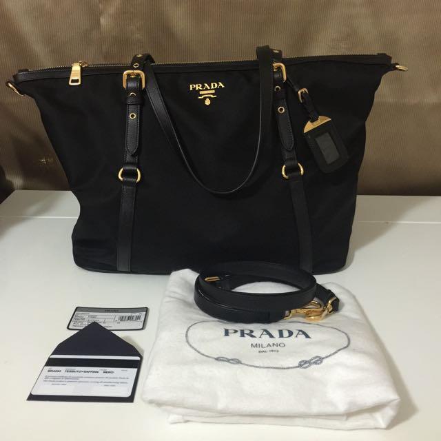 64db8158ff BRAND NEW Prada Tessuto Saffiano Large Shopping Bag BR4253
