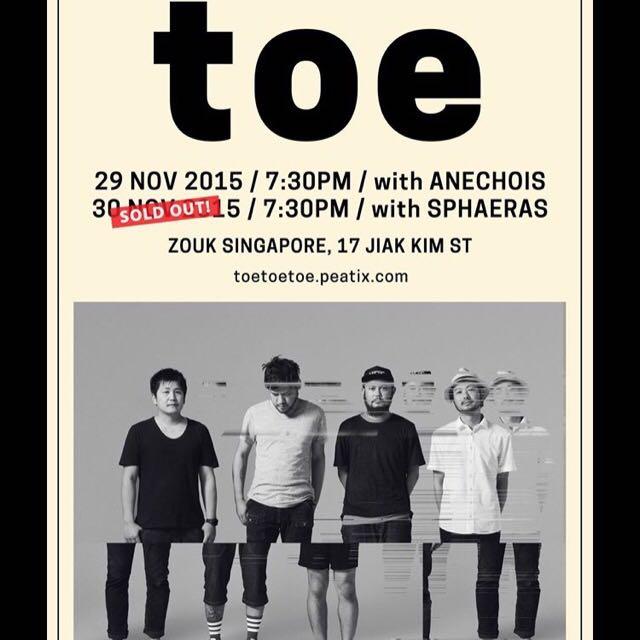 Buying TOE / Sphaeras 30 Nov tickets