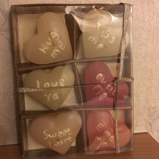 Love Shape Candles