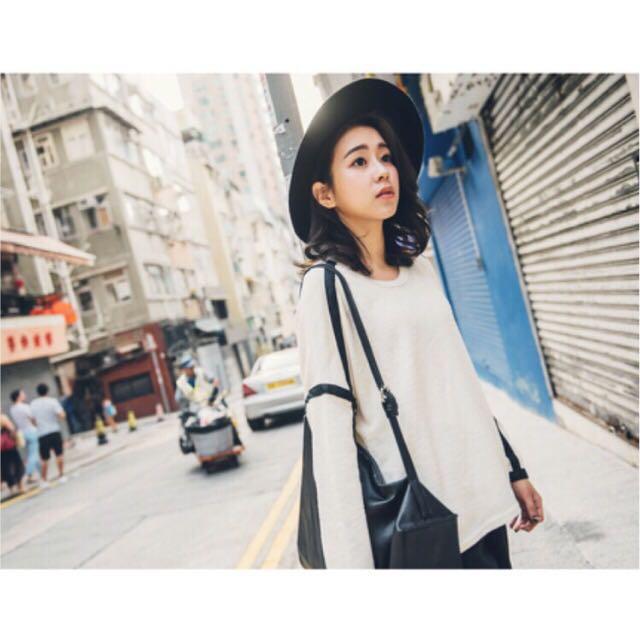 【全新】Queen Fashion Shop 袖子配色織帶造型上衣