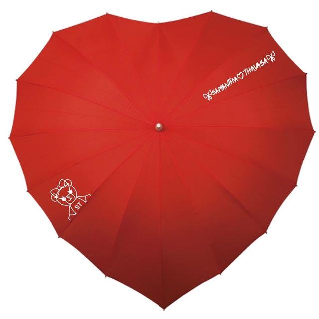 全新Samantha Thavasa紅色愛心傘❤️🌂