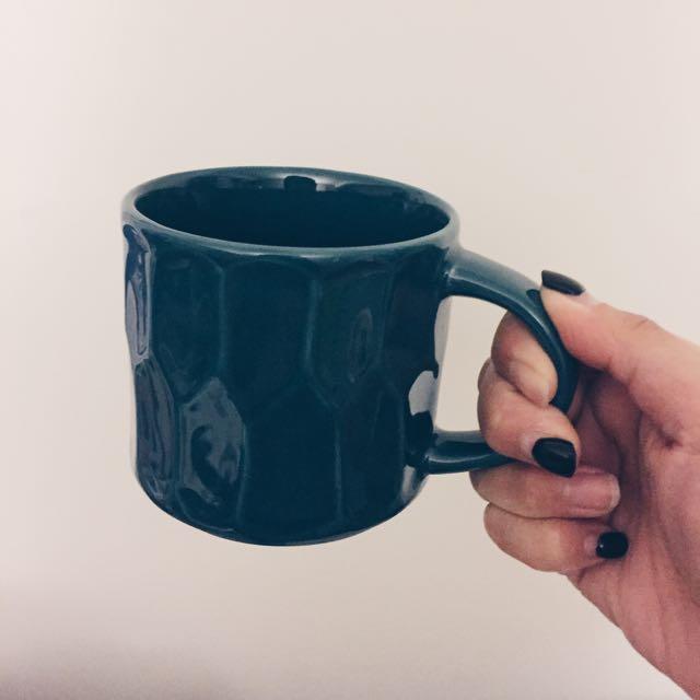 全新Starbucks陶瓷墨綠週年紀念馬克杯