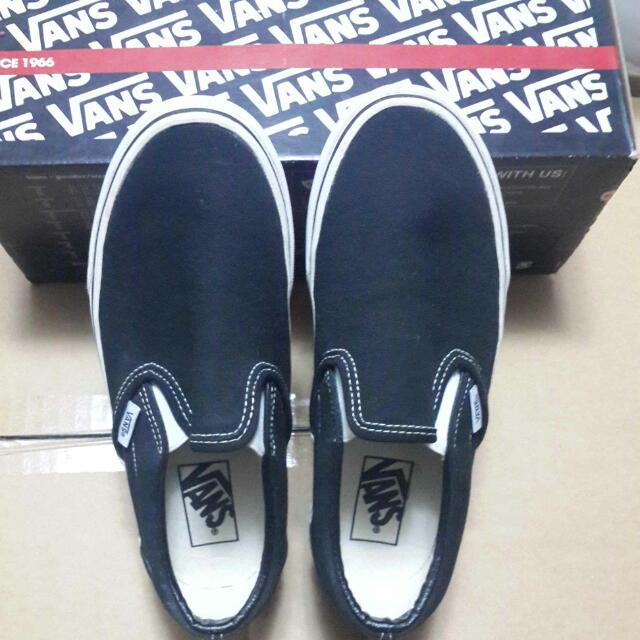 (保留中,待匯款)Vans經典黑色懶人鞋,帆船鞋