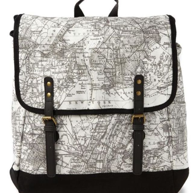 World map backpack mens fashion on carousell photo photo photo gumiabroncs Gallery