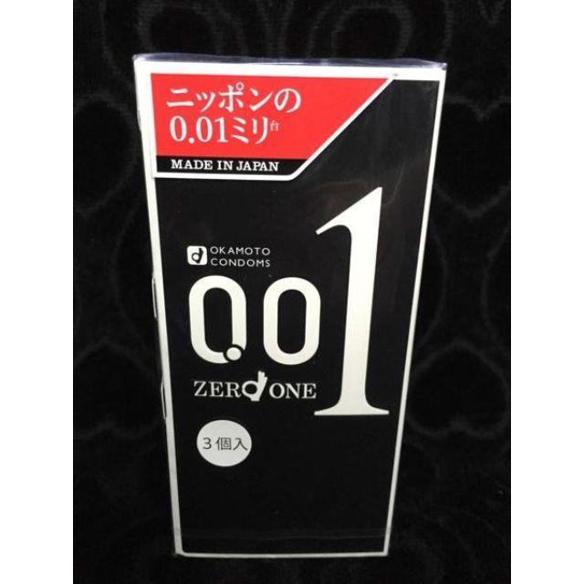 岡本001東京限定版 黑金版 0.01mm(3入)