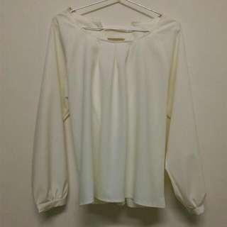 全新氣質米白雪紡衫