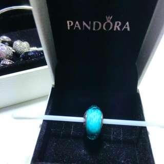 Pandora潘朵拉琉璃珠 湖水綠
