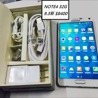 SAMSUNG三星 Note4白色 9.3成新 8300元 台中彰化可面交