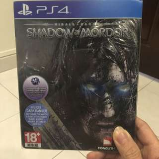 PS4 Game Shadow Of Mordor Steel Casing