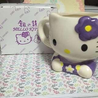 [降價囉]日本北海道帶回 Hello Kitty造型陶瓷杯(紫色)