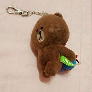 正版 Line 熊大 偷藏禮物篇 鑰匙圈