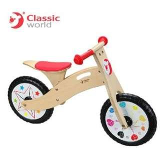 全新 Classic world 滑步車 平衡車 德國設計 車 單車 腳踏車 學步車 復古 輕