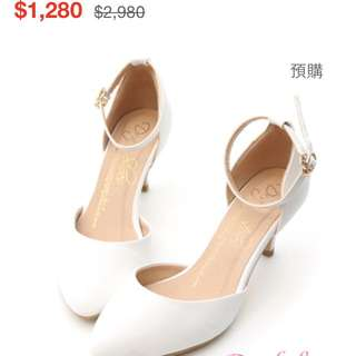 D+AF白色瑪莉珍鞋