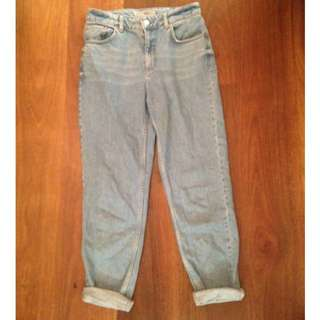 Size 28 Top Shop High Waisted Jeans
