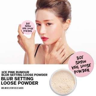 3CE 粉色謊言系列 細膩控油定妝蜜粉
