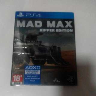 PS4 MAD MAX (Ripper Edition)