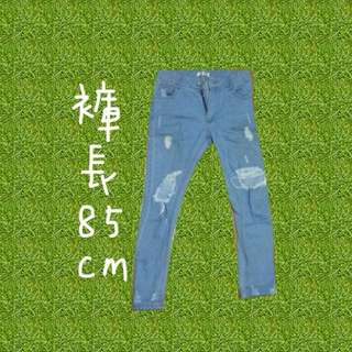 淺藍刷破男朋友褲