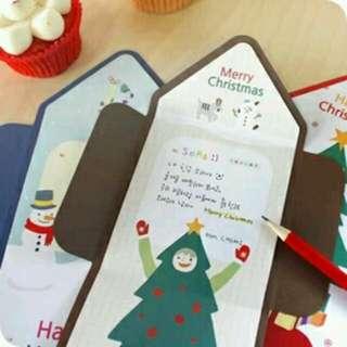 韓國聖誕節獨特小卡片