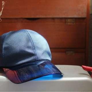 二手 Blue 透明帽沿 / Man Cap 後扣帽