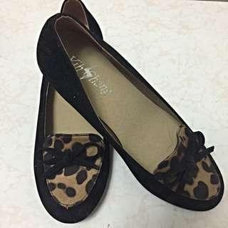 豹紋低跟鞋 22.5cm