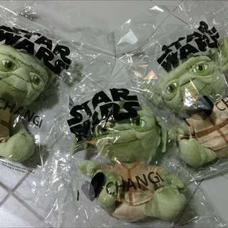 (Reserved) wts: 3x Starwars Yoda Changi-exclusive plush toys