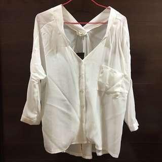 隨性白襯衫(全新)