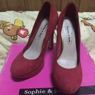 Sophie&Sam 紅色高跟鞋
