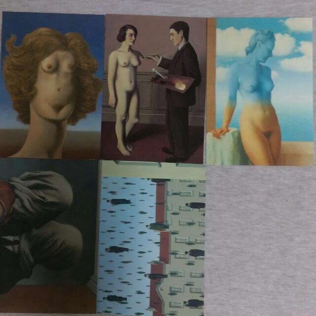 瑪格利特展覽明信片