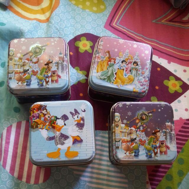 (免運)香港迪士尼 聖誕節版小鐵盒